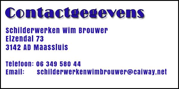 Schilderwerken Wim Brouwer | Schilder | Maassluis | Zuid-Holland | Behangen | Witten | Glaswerk |  Kunstof Onderhoud | Schildersbedrijf